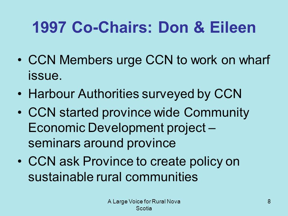 1997 Co-Chairs: Don & Eileen