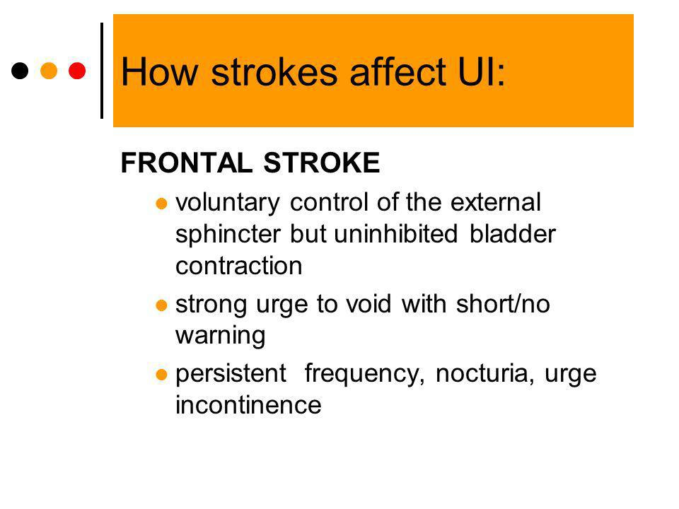 How strokes affect UI: FRONTAL STROKE