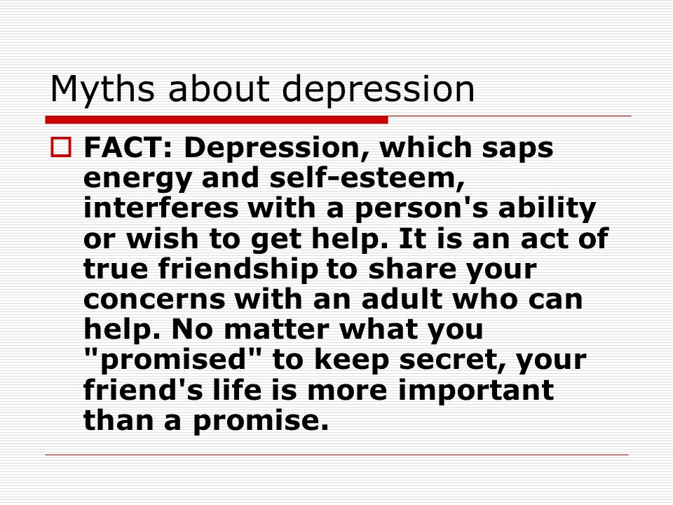 how to talk to someone about your depression