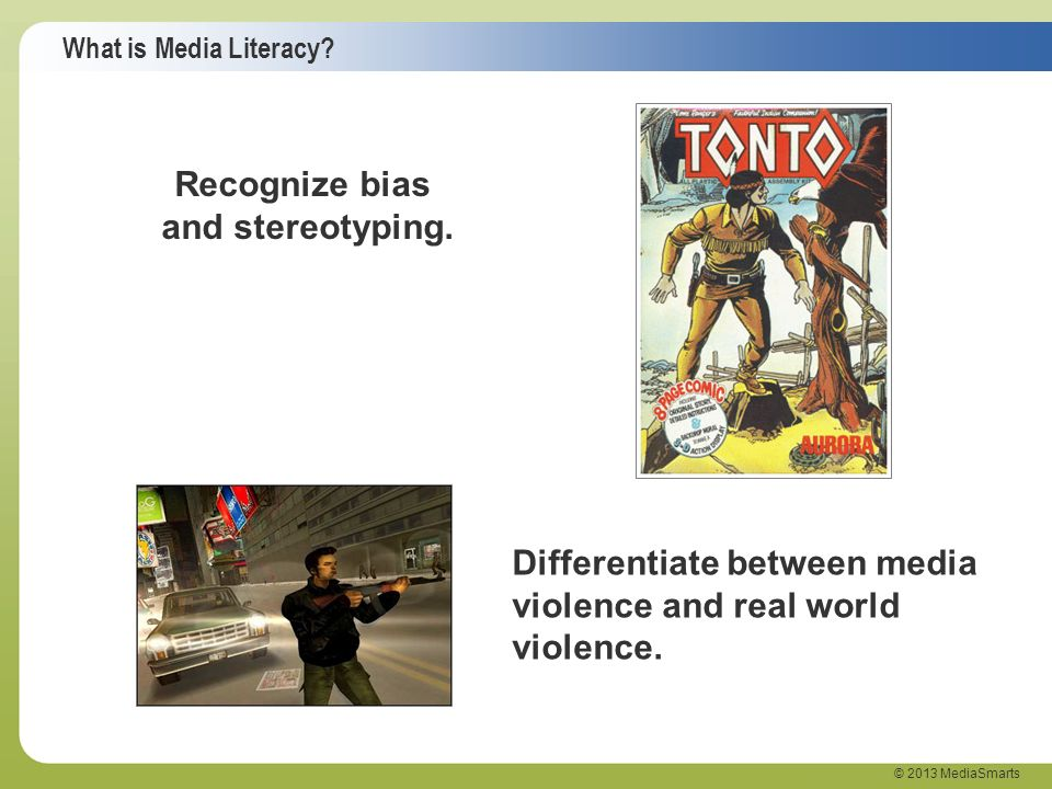 Recognize bias and stereotyping.