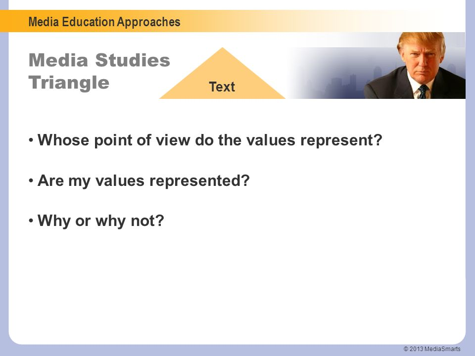 Whose point of view do the values represent