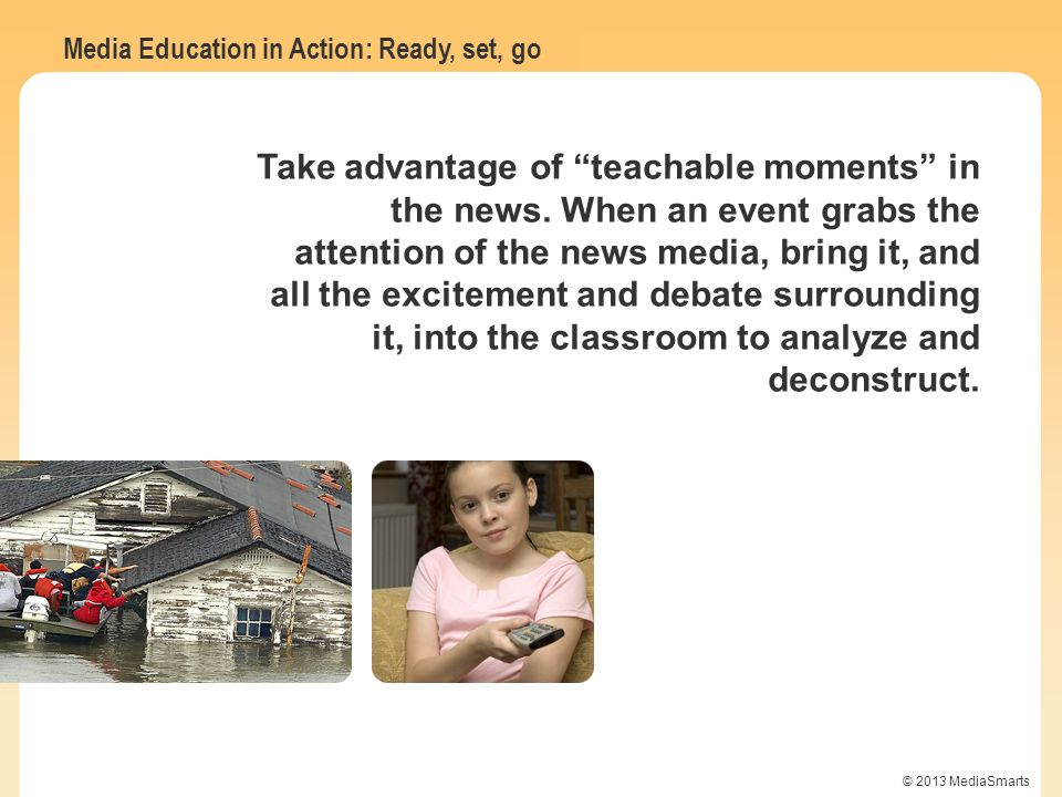 Take advantage of teachable moments in the news