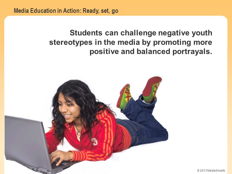 Students can challenge negative youth stereotypes in the media by promoting more positive and balanced portrayals.