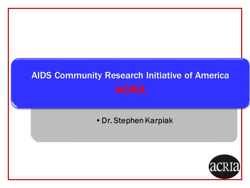 AIDS Community Research Initiative of America