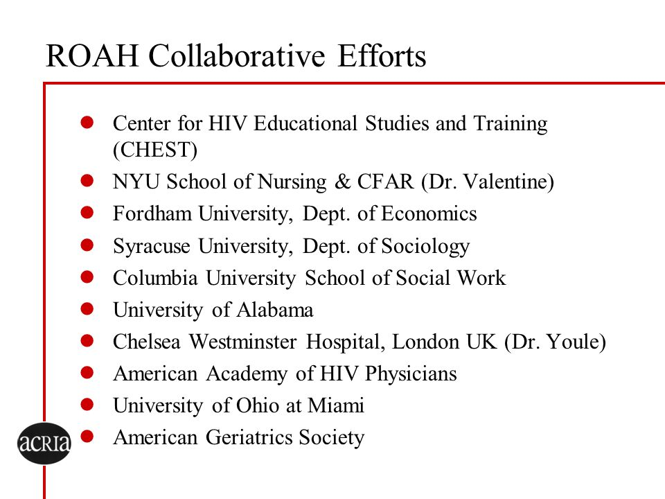 ROAH Collaborative Efforts