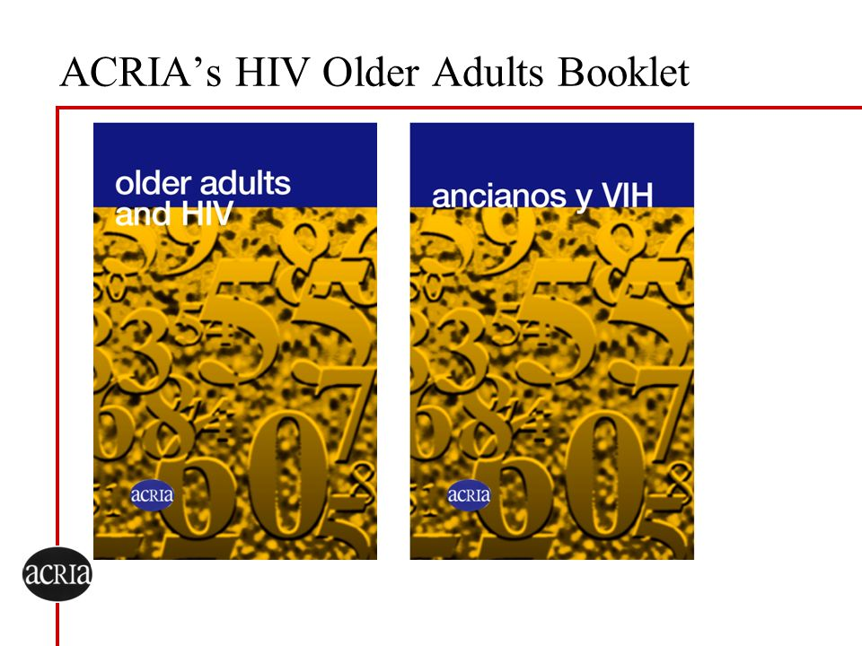 ACRIA's HIV Older Adults Booklet