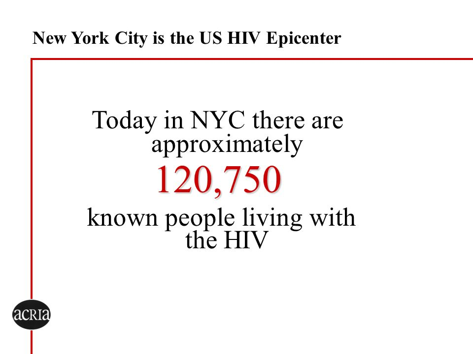 120,750 known people living with the HIV