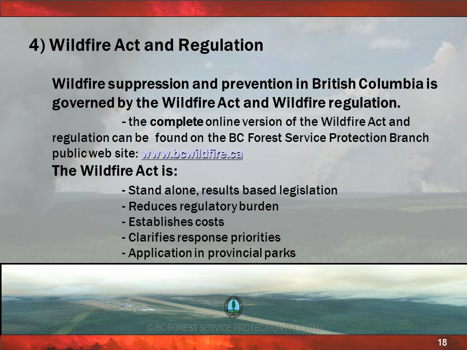 4) Wildfire Act and Regulation