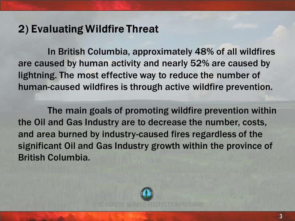 2) Evaluating Wildfire Threat