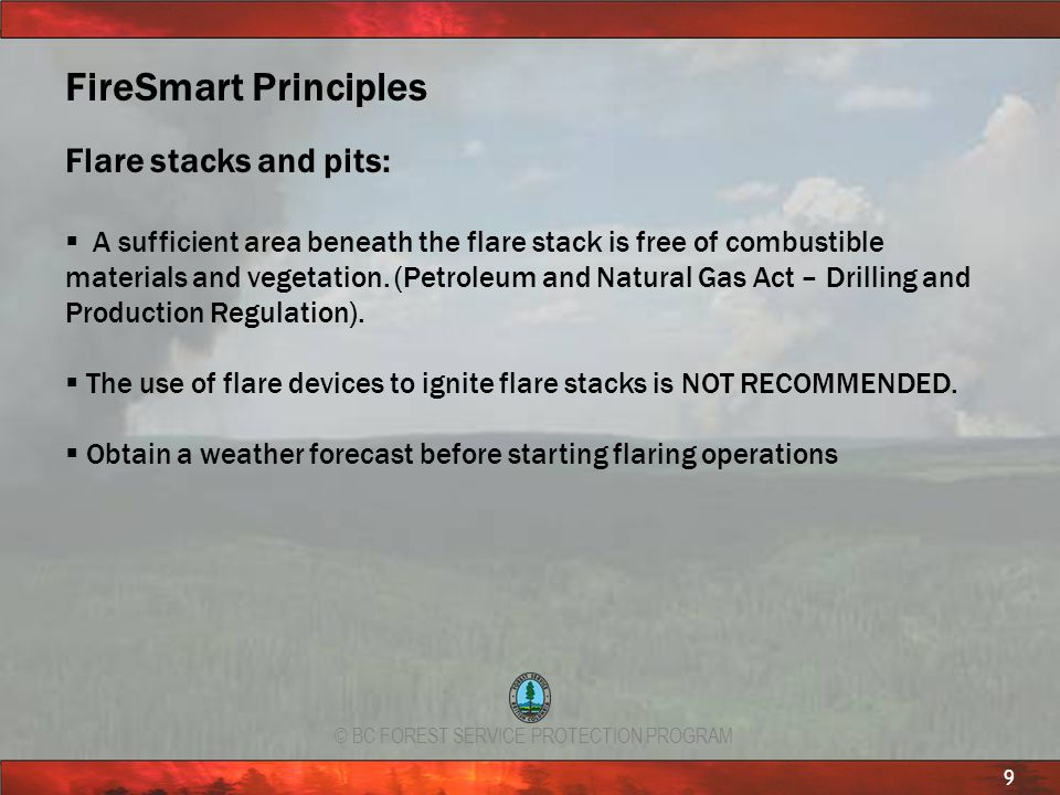 FireSmart Principles Flare stacks and pits: