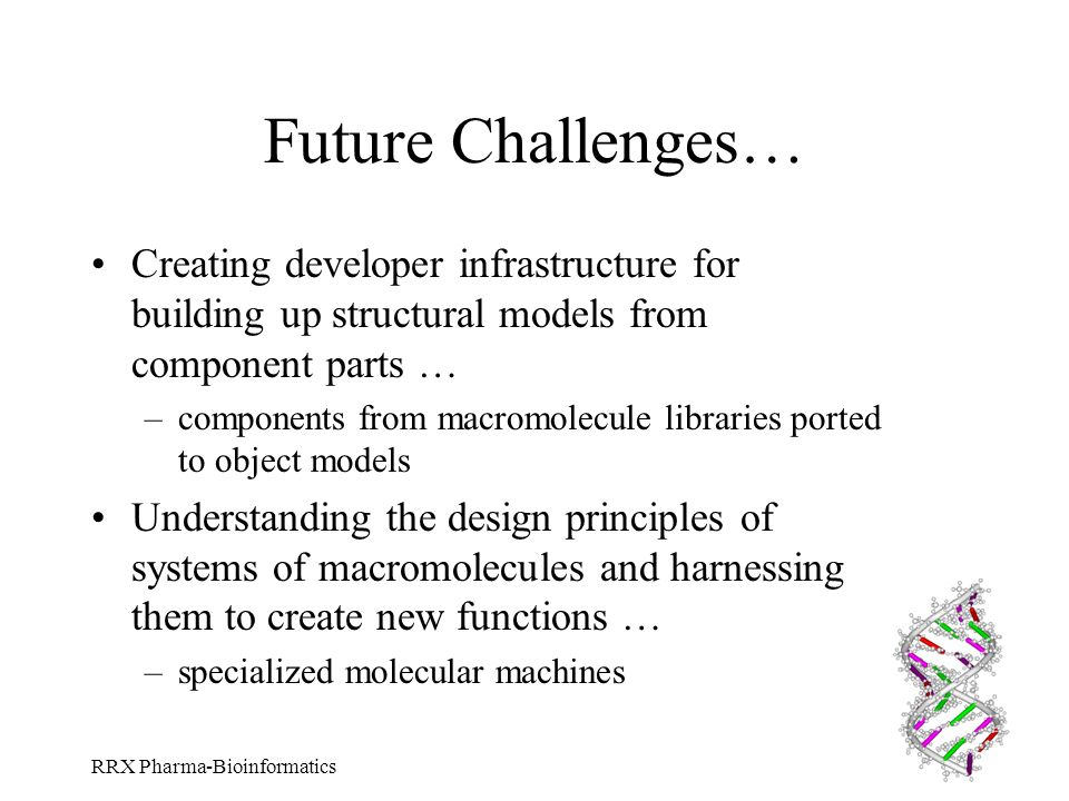 Future Challenges… Creating developer infrastructure for building up structural models from component parts …