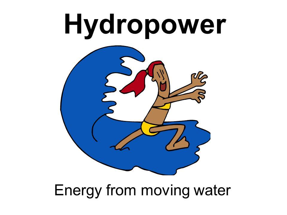 Energy from moving water