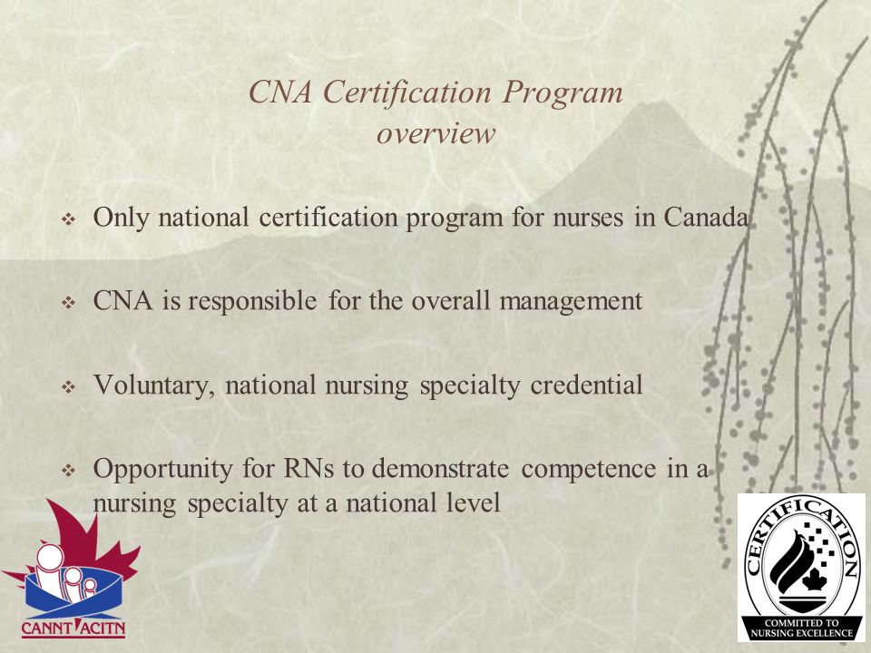 CNA Certification Program overview
