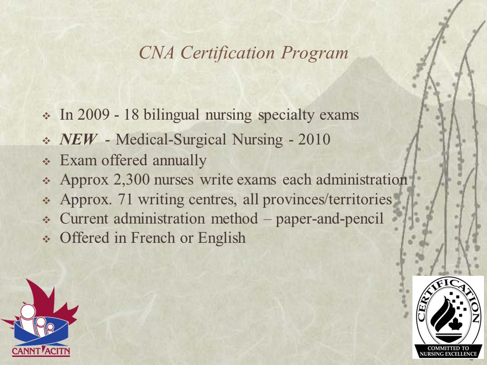 CNA Certification Program