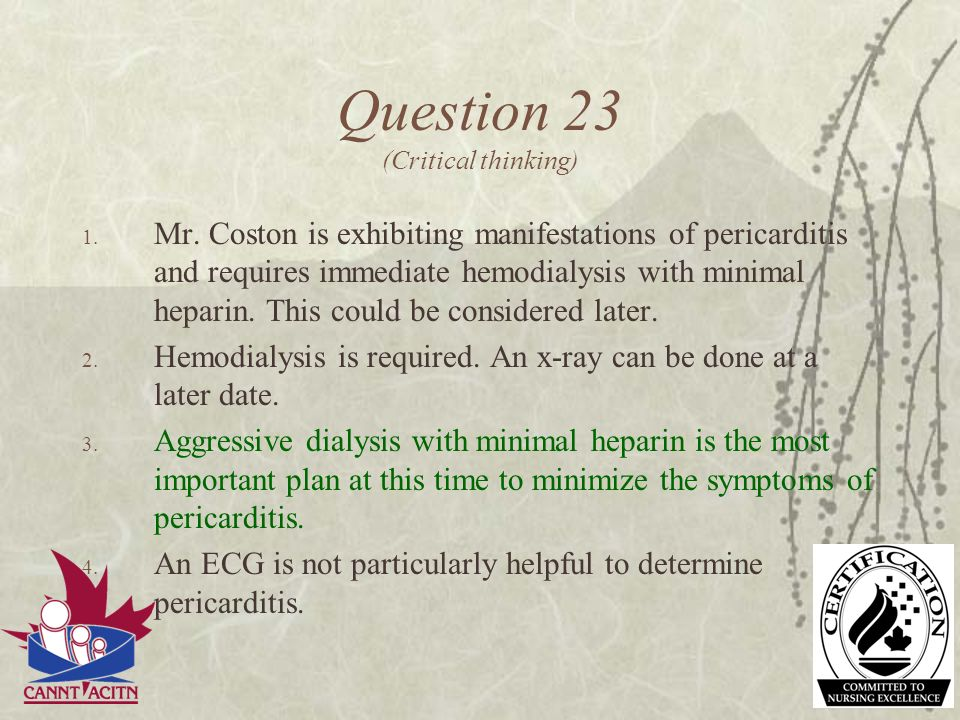 Question 23 (Critical thinking)