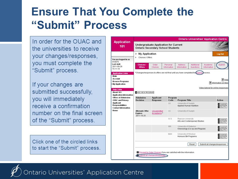 Ensure That You Complete the Submit Process
