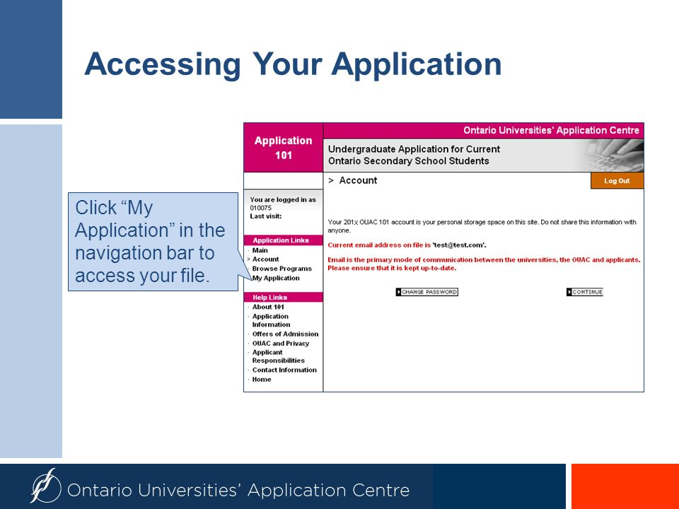 Accessing Your Application