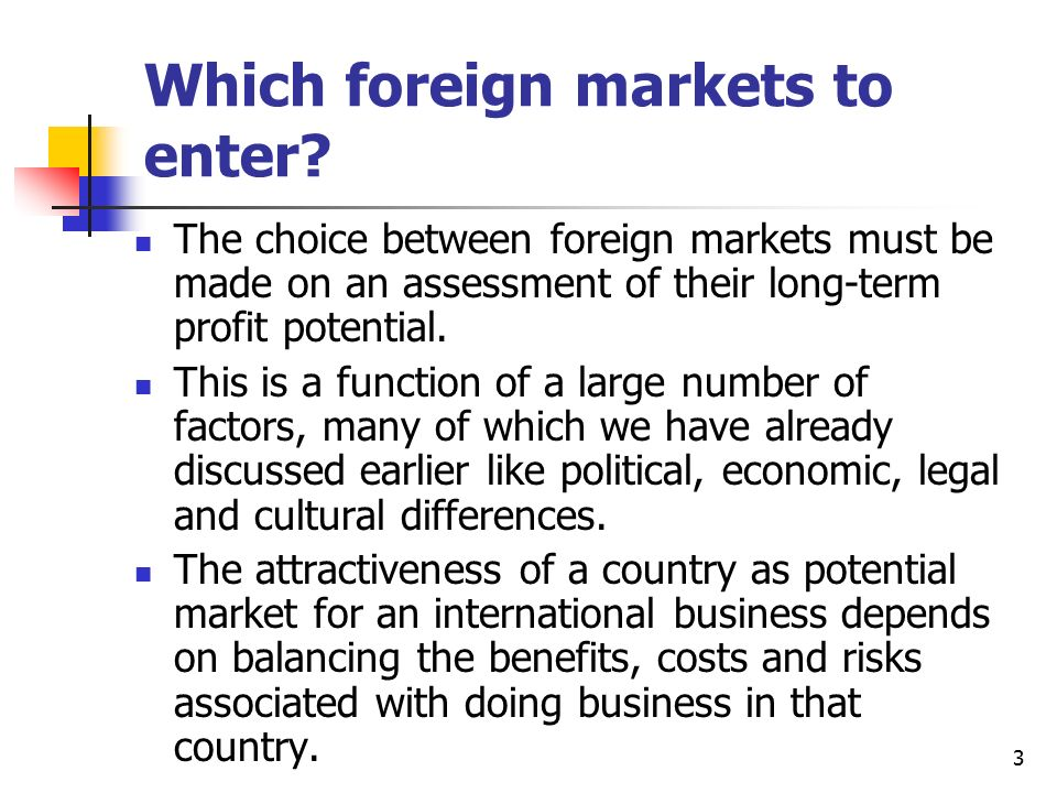 strategies for entering foreign markets