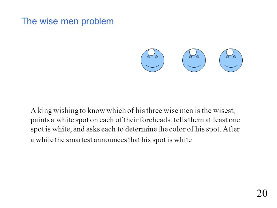 The wise men problem