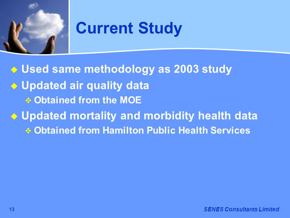 Current Study Used same methodology as 2003 study