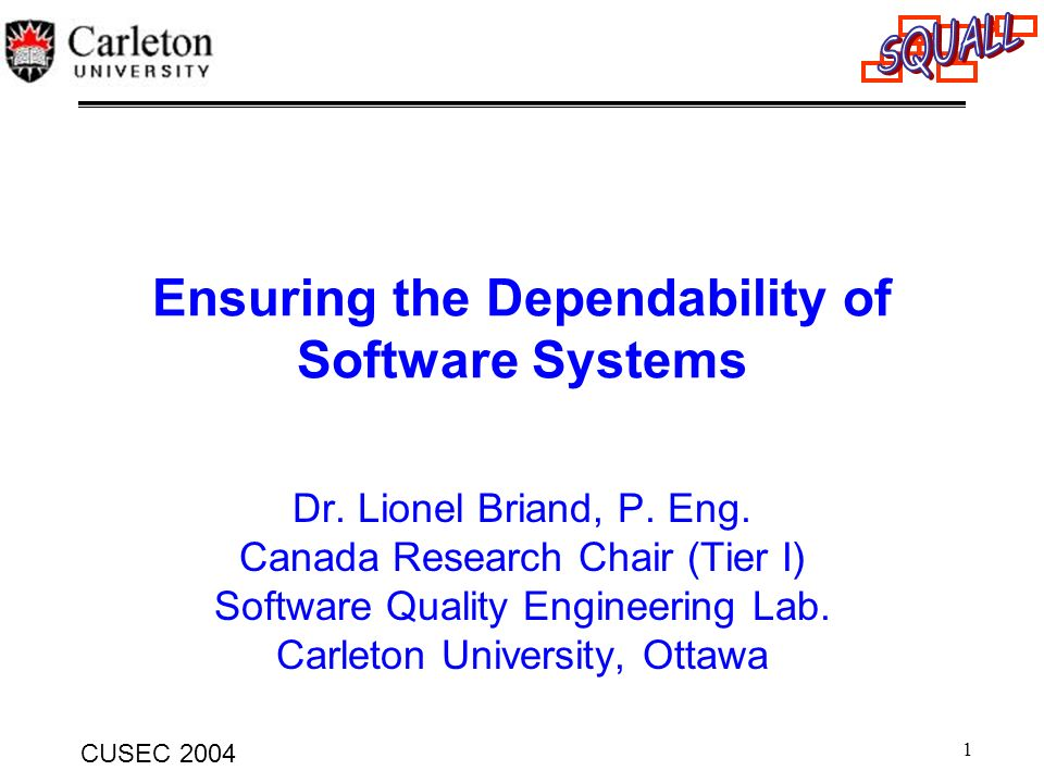 Ensuring the Dependability of Software Systems