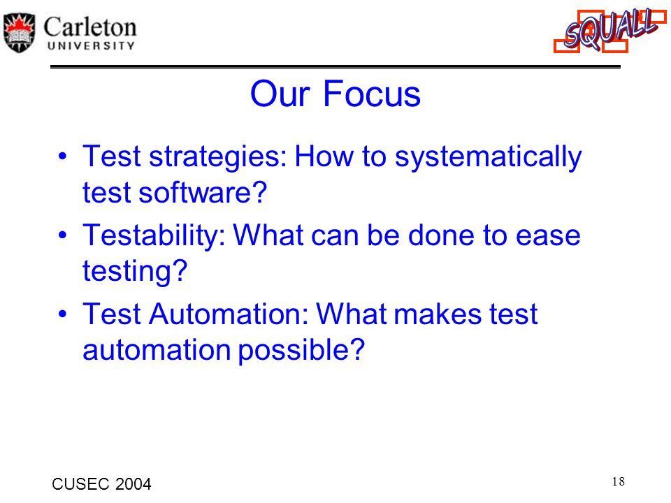 Our Focus Test strategies: How to systematically test software