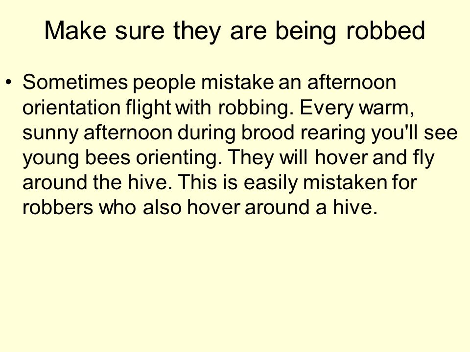Make sure they are being robbed