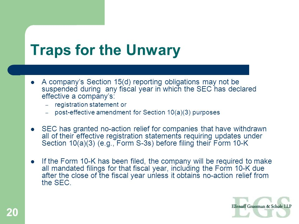 Traps for the Unwary