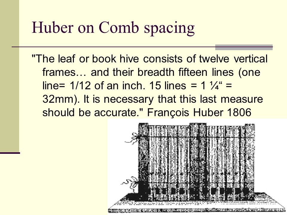 Huber on Comb spacing