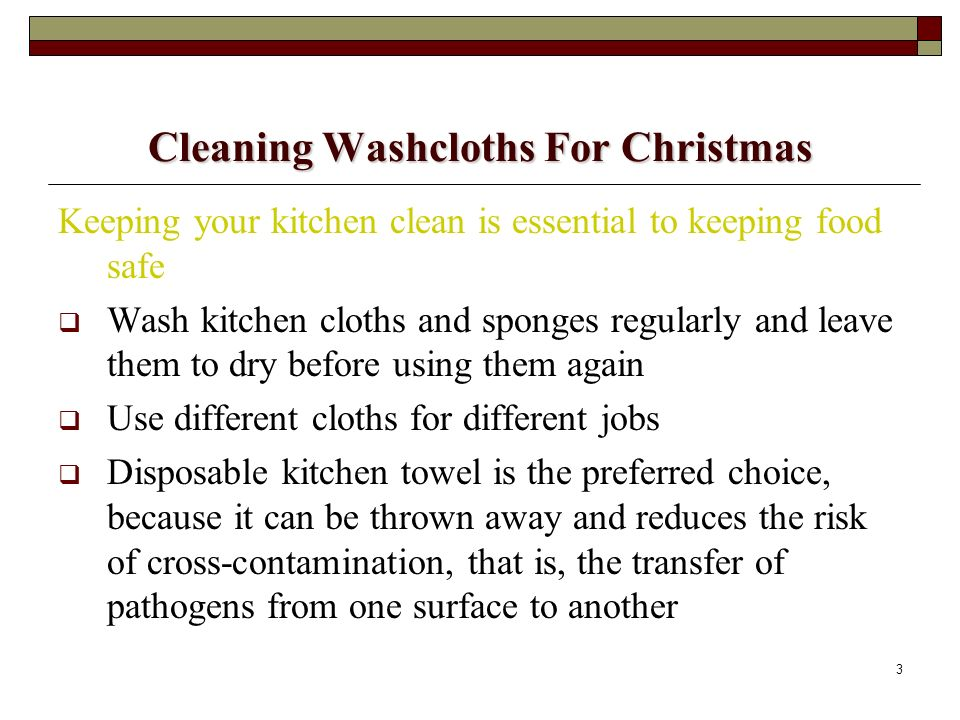 Cleaning Washcloths For Christmas