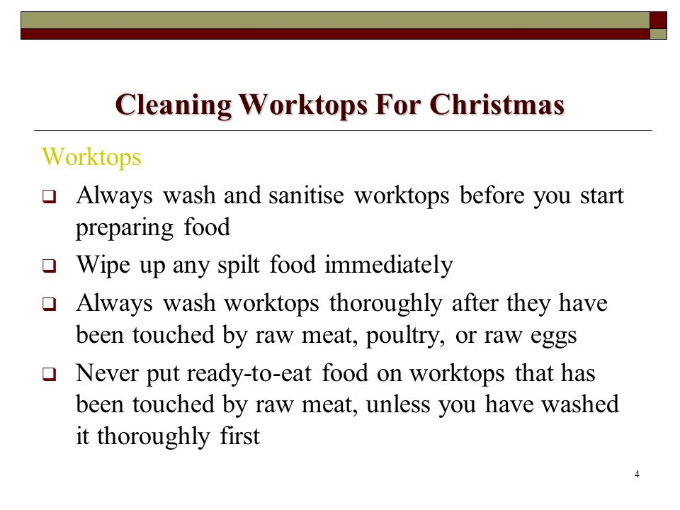 Cleaning Worktops For Christmas