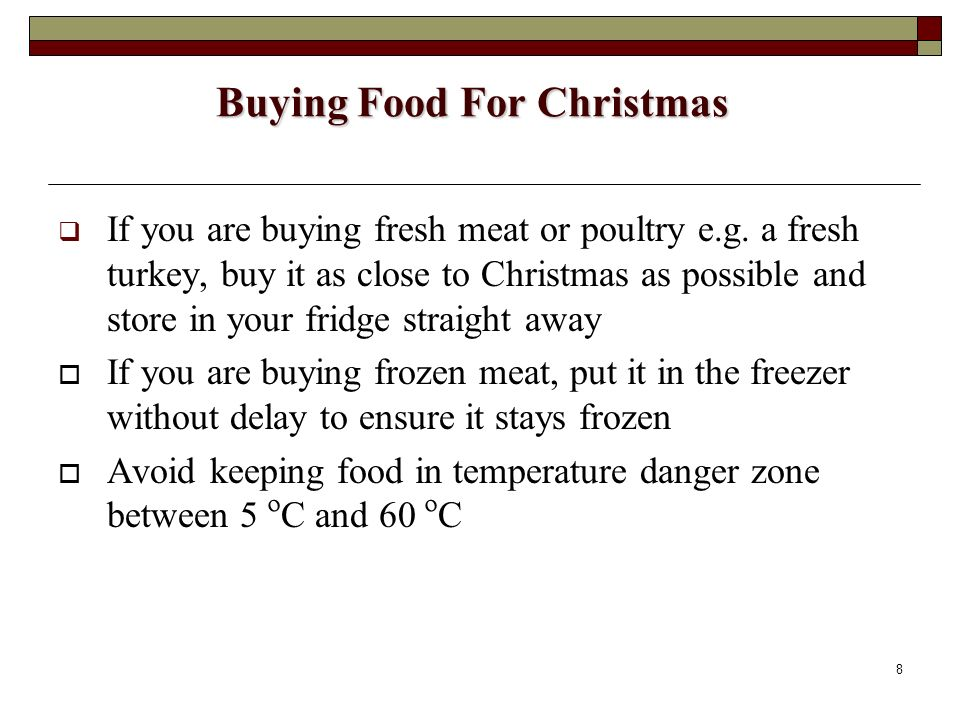 Buying Food For Christmas
