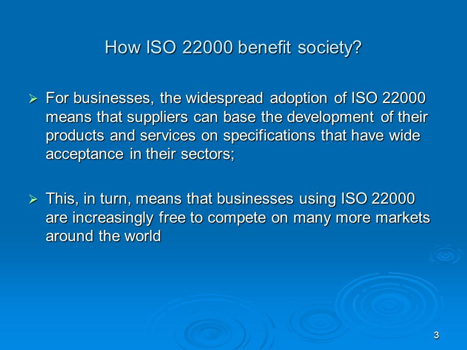 How ISO benefit society