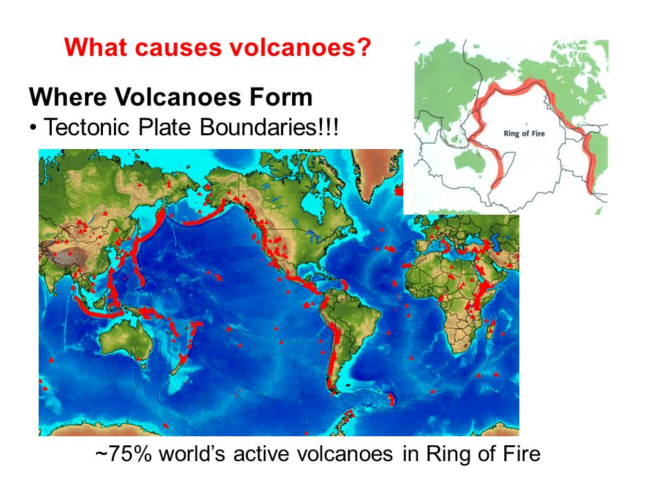 What causes volcanoes Where Volcanoes Form