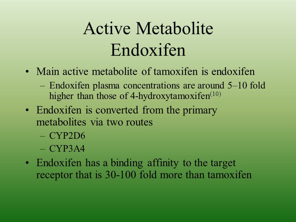 Active Metabolite Endoxifen
