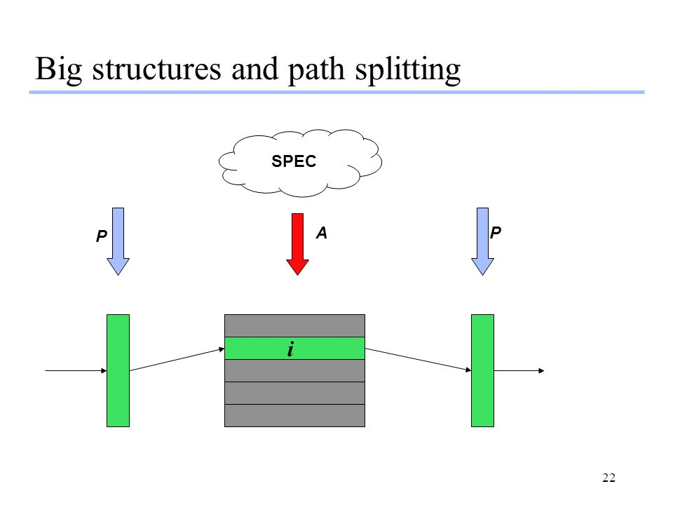 Big structures and path splitting