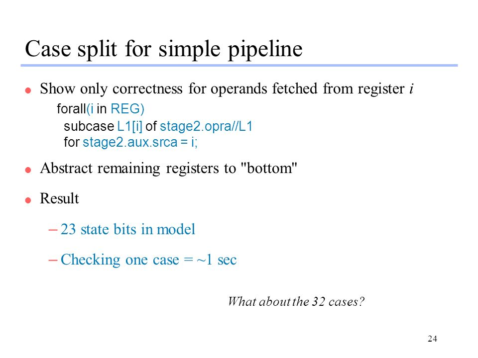 Case split for simple pipeline