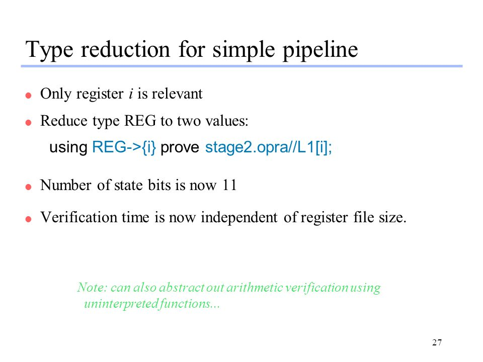 Type reduction for simple pipeline