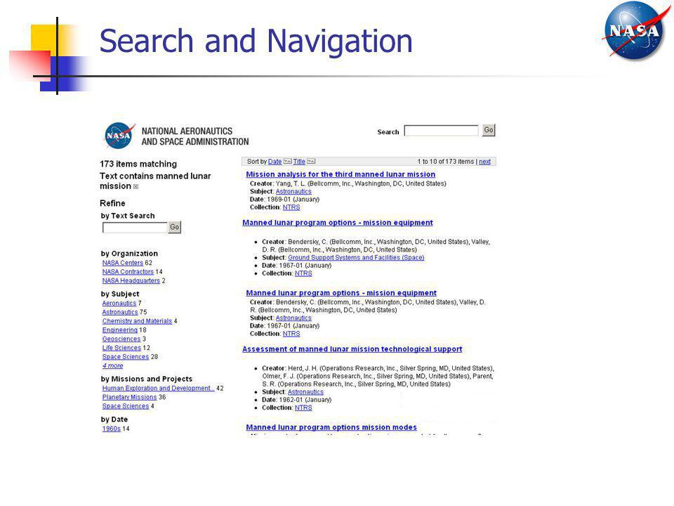Search and Navigation