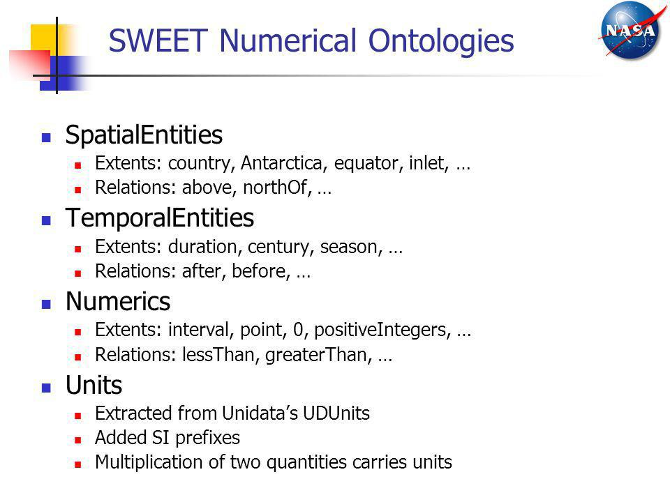 SWEET Numerical Ontologies