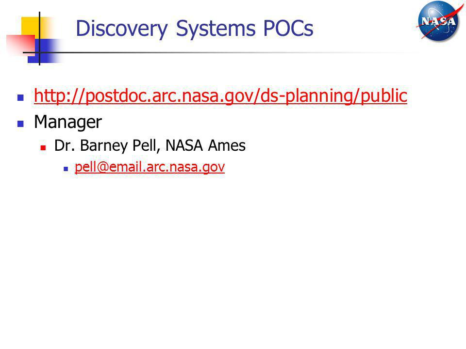 Discovery Systems POCs