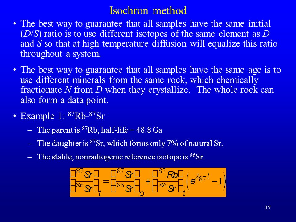 Isochron method