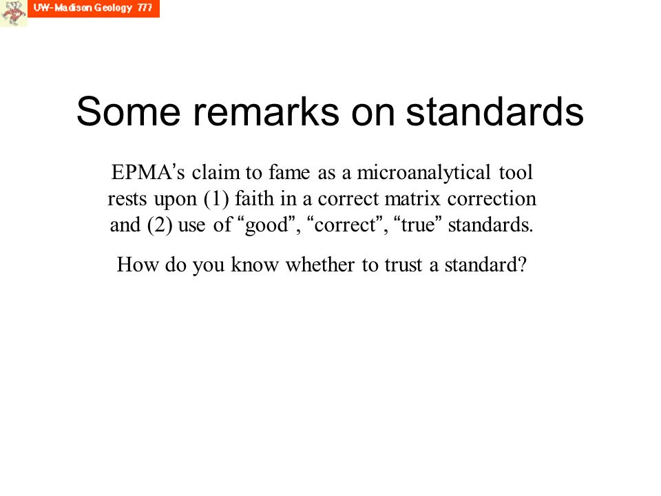 Some remarks on standards