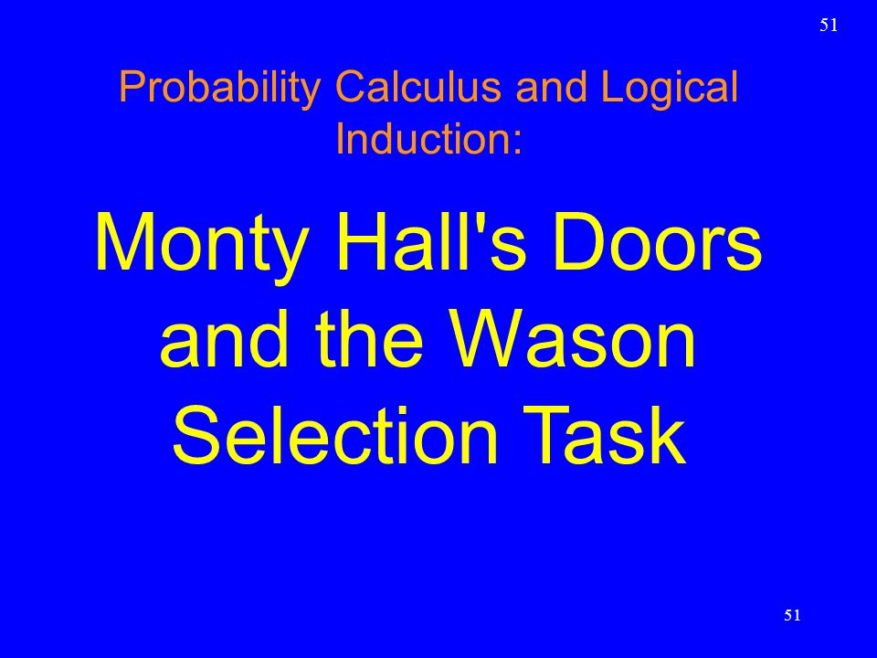 Monty Hall s Doors and the Wason Selection Task