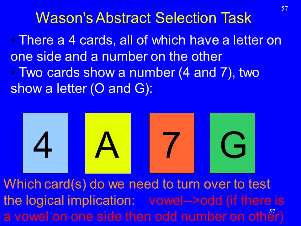 Wason s Abstract Selection Task