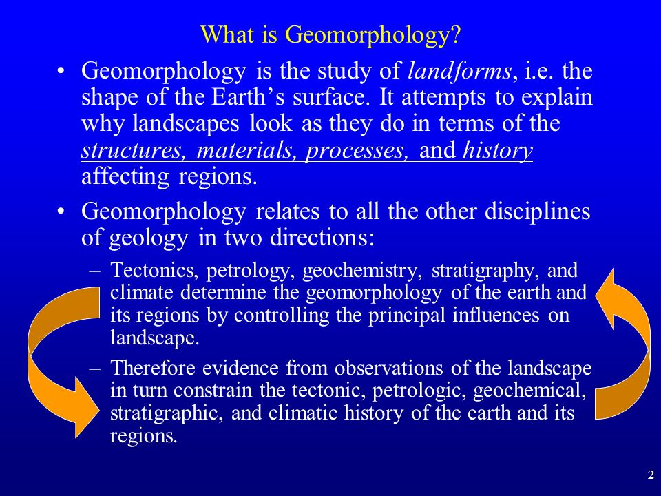 What is Geomorphology