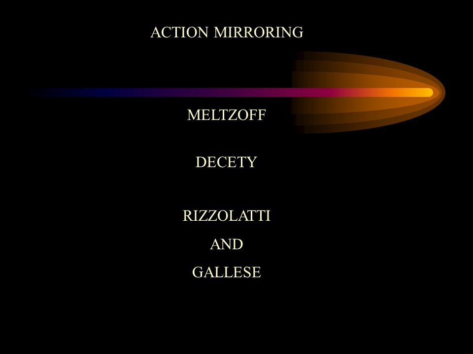 ACTION MIRRORING MELTZOFF DECETY RIZZOLATTI AND GALLESE