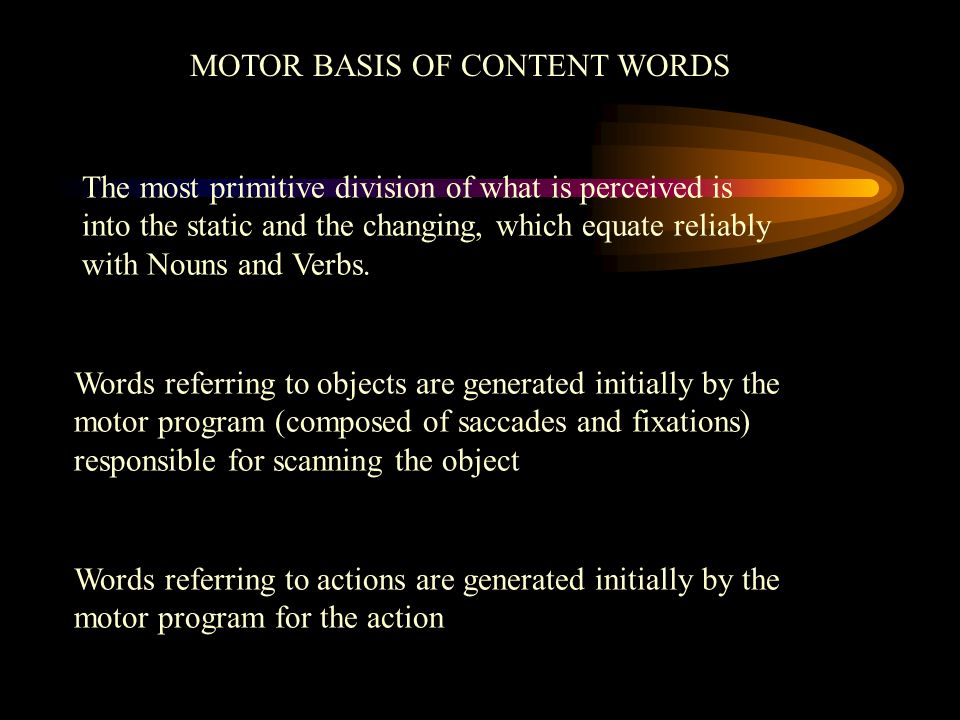MOTOR BASIS OF CONTENT WORDS