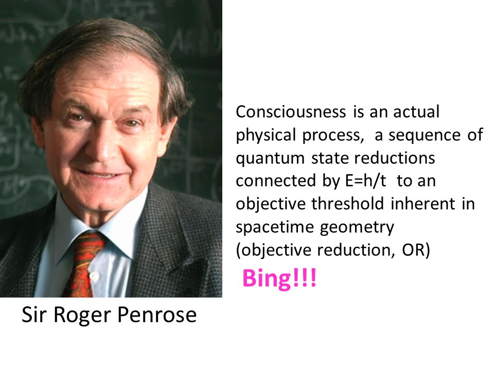 Consciousness is an actual physical process, a sequence of quantum state reductions connected by E=h/t to an objective threshold inherent in