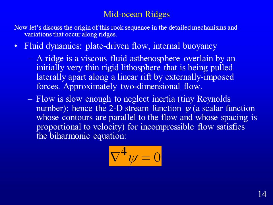 Fluid dynamics: plate-driven flow, internal buoyancy